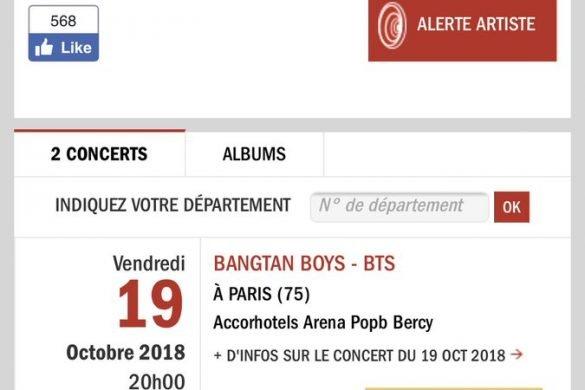 BTS concert à Paris