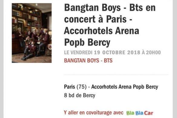 #BTSWorldTour – Les BTS seront à Paris en octobre 2018 !
